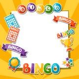 Предпосылка игры Bingo или лотереи Стоковое фото RF