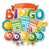 Предпосылка игры Bingo или лотереи Стоковое Фото