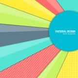 Предпосылка дизайна вектора материальная Абстрактный творческий шаблон плана концепции Для сети и передвижного app, бумажное иску Стоковые Фотографии RF