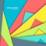 Предпосылка дизайна вектора материальная Абстрактный творческий шаблон плана концепции Для сети и передвижного app, бумажное иску Стоковые Фото