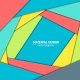 Предпосылка дизайна вектора материальная Абстрактный творческий шаблон плана концепции Для сети и передвижного app, бумажное иску Стоковое Изображение