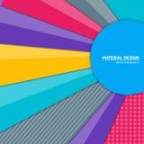 Предпосылка дизайна вектора материальная Абстрактный творческий шаблон плана концепции Для сети и передвижного app, бумажное иску Стоковое фото RF