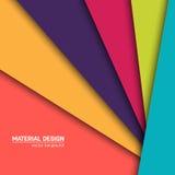 Предпосылка дизайна вектора материальная Абстрактный творческий шаблон плана концепции Для сети и передвижного app, бумажное иску Стоковые Изображения