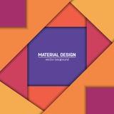 Предпосылка дизайна вектора материальная Абстрактный творческий шаблон плана концепции Для сети и передвижного app, бумажное иску Стоковые Изображения RF