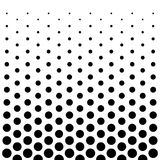 Предпосылка дизайна картины точек круга в черно-белом Стоковая Фотография RF