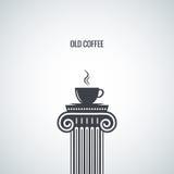 Предпосылка дизайна кофейной чашки классическая Стоковое Изображение RF