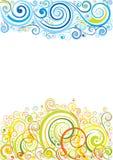 Предпосылка дизайна флористическая Стоковые Изображения