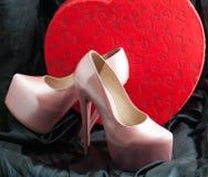 предпосылка изолированная над женщиной ботинок белой Стоковые Изображения RF