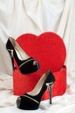 предпосылка изолированная над женщиной ботинок белой Стоковая Фотография