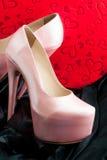 предпосылка изолированная над женщиной ботинок белой Стоковое Изображение RF