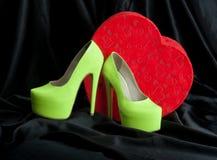 предпосылка изолированная над женщиной ботинок белой Стоковое Изображение