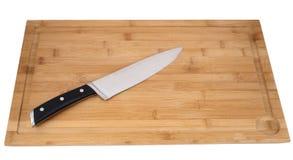 предпосылка изолировала белизну студии теней предмета света ножа кухни Стоковые Фото
