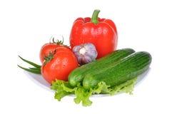предпосылка изолировала овощи белые Стоковое фото RF