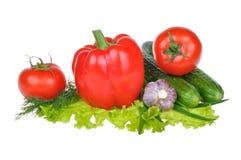 предпосылка изолировала овощи белые Стоковая Фотография RF