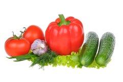 предпосылка изолировала овощи белые Стоковые Изображения RF