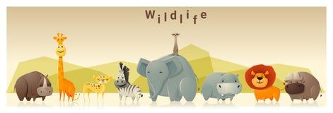 Предпосылка дикого животного иллюстрация штока