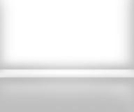 Предпосылка интерьера белой комнаты Стоковая Фотография