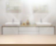 Предпосылка интерьера столешницы и нерезкости Стоковое Изображение RF