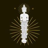 Предпосылка искусства картины Таиланда Стоковое фото RF