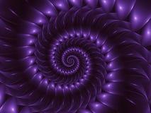 Предпосылка искусства цифров лоснистая фиолетовая абстрактная спиральная Стоковые Фотографии RF