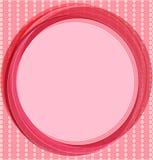 Предпосылка искусства шипучки в пинке с кругами. Стоковая Фотография