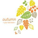 Предпосылка листьев осени падая иллюстрация вектора