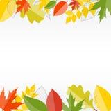 Предпосылка листьев сияющей осени естественная вектор Стоковые Изображения