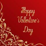 Предпосылка литерности дня валентинок богато украшенная Стоковое Фото