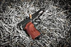 Предпосылка личного огнестрельного оружия автоматического пистолета Стоковая Фотография