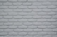 Предпосылка или текстура краски кирпичной стены серые Стоковое фото RF