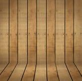 Предпосылка и пол сцены твёрдой древесины Стоковая Фотография