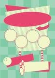 предпосылка и рамка стиля боулинга 1950s бесплатная иллюстрация