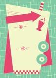 предпосылка и рамка стиля обедающего 1950s Стоковое Изображение