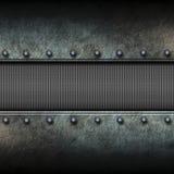 Предпосылка и сетка металла Grunge иллюстрация 3d Стоковые Изображения RF