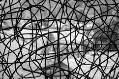 Предпосылка и текстура проволочной изгороди Стоковое Изображение