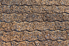 Предпосылка и текстура с округленными камнями камушка Стоковые Изображения