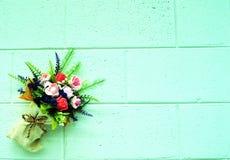 Предпосылка и цветки Стоковое Изображение RF
