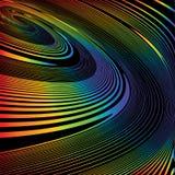 Предпосылка иллюзии движения винтовой линии дизайна красочная иллюстрация вектора