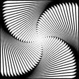 Предпосылка иллюзии движения водоворота дизайна Стоковые Изображения RF