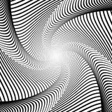 Предпосылка иллюзии движения водоворота дизайна Стоковое Изображение