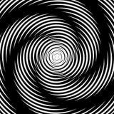 Предпосылка иллюзии движения водоворота дизайна иллюстрация вектора