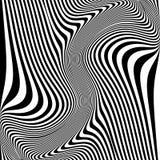 Предпосылка иллюзии движения дизайна monochrome иллюстрация вектора
