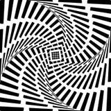 Предпосылка иллюзии движения twirl сердца дизайна. A иллюстрация вектора