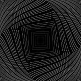 Предпосылка иллюзии вортекса дизайна monochrome иллюстрация вектора