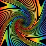 Предпосылка иллюзии водоворота дизайна multicolor бесплатная иллюстрация