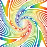 Предпосылка иллюзии водоворота дизайна multicolor иллюстрация штока