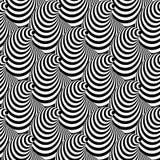 Предпосылка иллюзии конуса дизайна безшовная иллюстрация вектора