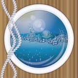 Предпосылка иллюминатора корабля подводная Стоковая Фотография RF