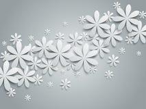 Предпосылка с бумажными цветками иллюстрация штока