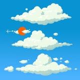 Предпосылка иллюстрации стиля шаржа облака Стоковое Изображение RF